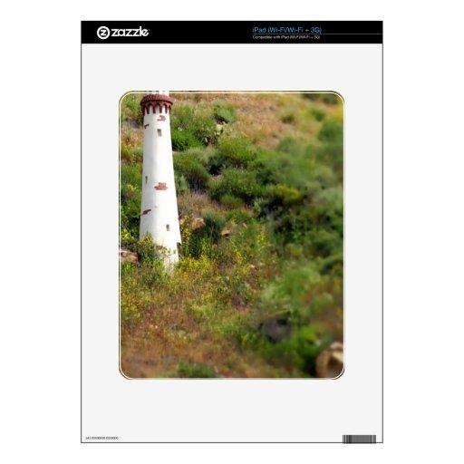 Torre ligera del Laguna Beach Calcomanías Para El iPad