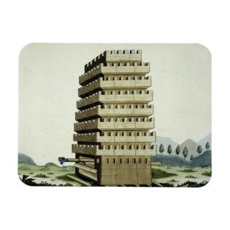 Torre movible con galerías externas y un additio imanes de vinilo