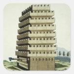 Torre movible con galerías externas y un additio colcomanias cuadradas