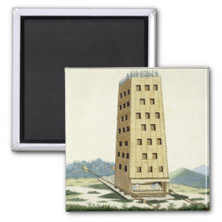 Torre movible, diseñada después de la torre de Cés Imán Cuadrado