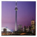 Torre nacional de Canadá, Toronto, Canadá Azulejo Cuadrado Grande