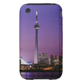 Torre nacional de Canadá Toronto Canadá Tough iPhone 3 Protectores