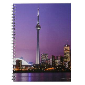 Torre nacional de Canadá Toronto Canadá Libro De Apuntes Con Espiral