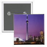Torre nacional de Canadá, Toronto, Canadá Pin Cuadrada 5 Cm