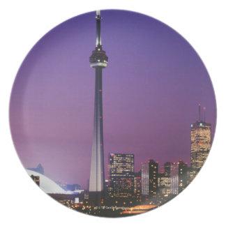 Torre nacional de Canadá Toronto Canadá Plato