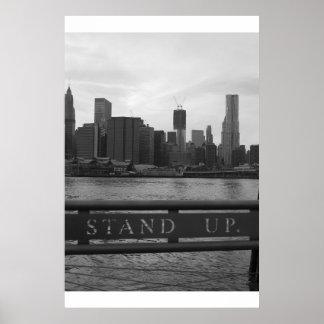 "Torre New York City de la libertad - ""LEVÁNTESE "" Posters"