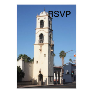 """Torre Ojai de la oficina de correos Invitación 3.5"""" X 5"""""""