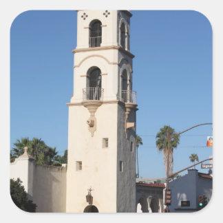 Torre Ojai de la oficina de correos Pegatina Cuadrada
