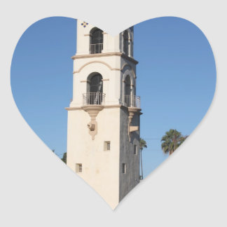 Torre Ojai de la oficina de correos Pegatina En Forma De Corazón