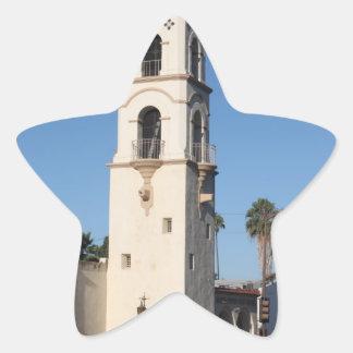 Torre Ojai de la oficina de correos Pegatina En Forma De Estrella