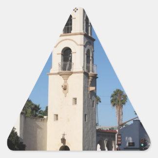 Torre Ojai de la oficina de correos Pegatina Triangular