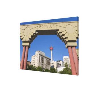 Torre olímpica de la plaza y de Calgary, Alberta, Impresión En Lienzo