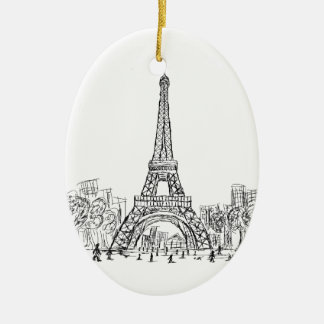 Torre París de Eifel Ornamento De Navidad