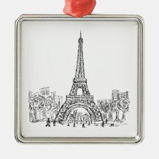 Torre París de Eifel Ornamentos Para Reyes Magos