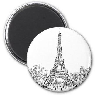 Torre París de Eifel Imán Redondo 5 Cm