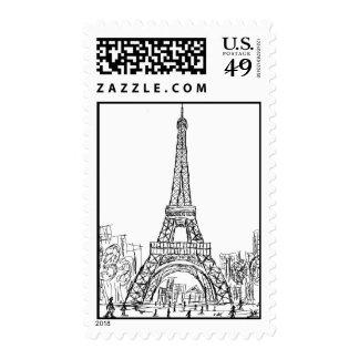 Torre París de Eifel Franqueo