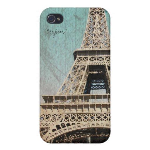 torre París del jEiffel de Bonour del caso del iph iPhone 4 Cárcasa