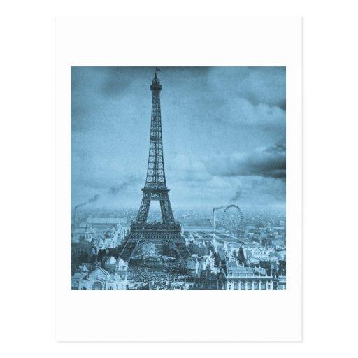 Torre París Francia 1889 de Eifel del vintage Postal