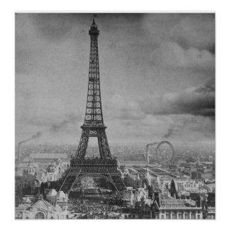Torre París Francia Stereoview 1889 de Eifel del v Posters