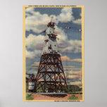 Torre principal, planta de mezcla, presa de Shasta Poster
