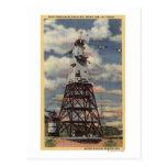 Torre principal, planta de mezcla, presa de Shasta Tarjeta Postal