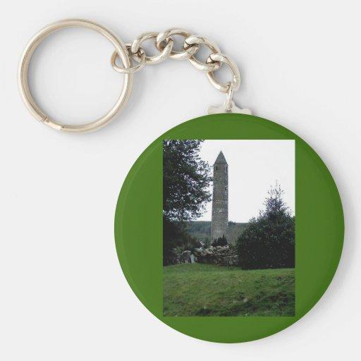 Torre redonda, Glendalough, Co.Wicklow, Irlanda Llavero Redondo Tipo Pin