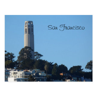 Torre San Francisco de Coit Tarjeta Postal