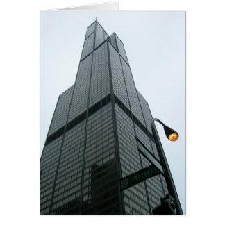 Torre Sears Notecard Tarjeta Pequeña