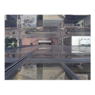 Torre Sears que mira abajo Tarjeta Postal