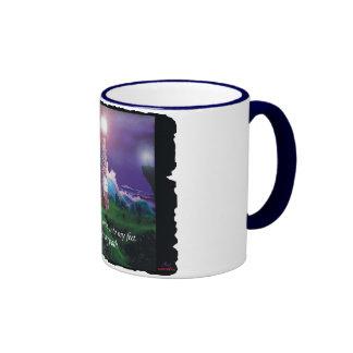 """""""Torre taza de café de 11oz de la luz y del amor"""""""