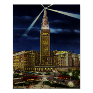 Torre terminal de la unión de Cleveland Ohio en la Impresiones
