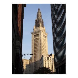 Torre terminal, visión desde la calle tarjetas postales