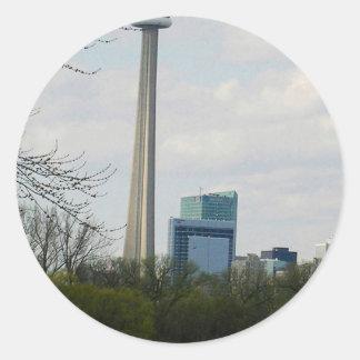 Torre V2 del NC de la señal de Toronto Pegatina Redonda