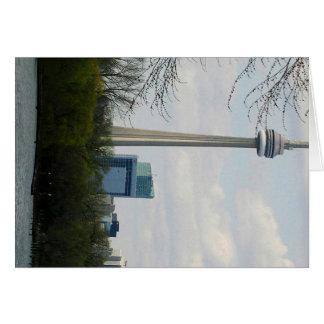 Torre V2 del NC de la señal de Toronto Tarjeta De Felicitación