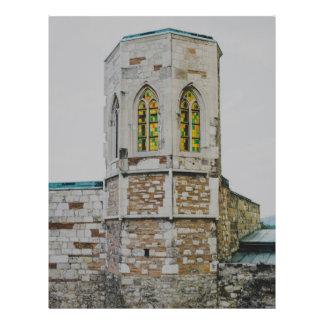 "Torre vieja del castillo de Buda, Budapest Folleto 8.5"" X 11"""
