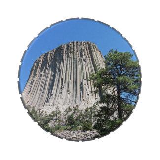 Torre Wyoming de los diablos Frascos De Caramelos