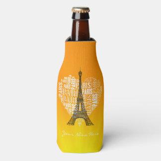 Torre y inscripciones París en corazón Enfriador De Botellas