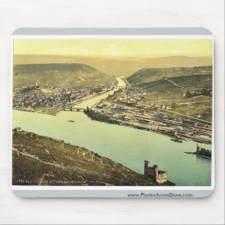 Torre y Rossel, Bingen, el Rin, Alemania del ratón Alfombrillas De Ratón