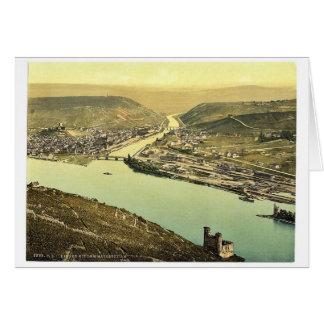 Torre y Rossel Bingen el Rin Alemania del ratón Tarjetas