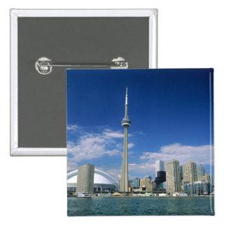 Torre y Skydome del NC en Toronto, Ontario, Pin Cuadrado