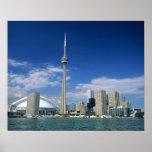 Torre y Skydome del NC en Toronto, Ontario, Poster