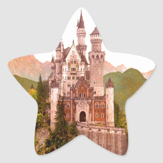 torrecilla de hadas del castillo del castillo del pegatina en forma de estrella