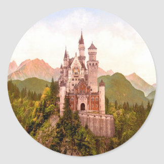 torrecilla de hadas del castillo del castillo del pegatina redonda
