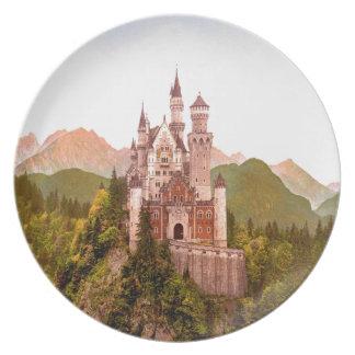 torrecilla de hadas del castillo del castillo del platos
