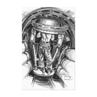 Torrecilla superior B-17 1943 Impresión En Lona Estirada