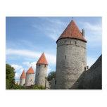 Torrecillas o torres medievales en Tallinn, Estoni Postal
