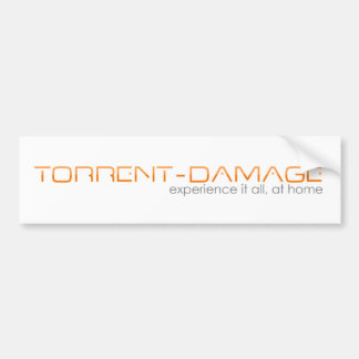 Torrent-Damage Bumper sticker