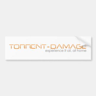 Torrent-Damage Bumper sticker