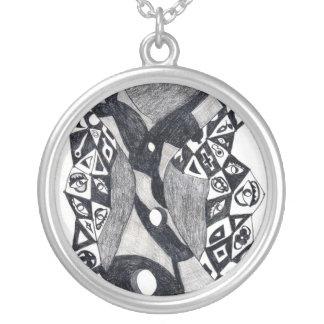 Torrent Round Pendant Necklace
