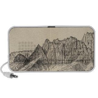 Torres, acantilados bermellones iPod altavoces